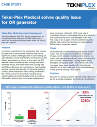 Tekni-Plex Medical solves quality issue for OR generator