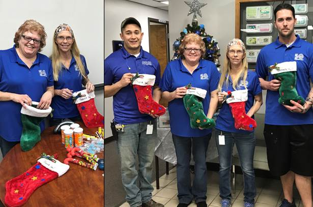 Dolco Packaging Decatur, Indiana, plant volunteers for Stockings for Soldiers campaign